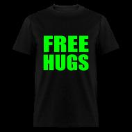 T-Shirts ~ Men's T-Shirt ~ Free Hugs Green