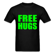 T-Shirts ~ Men's T-Shirt ~ Free Hugs Green