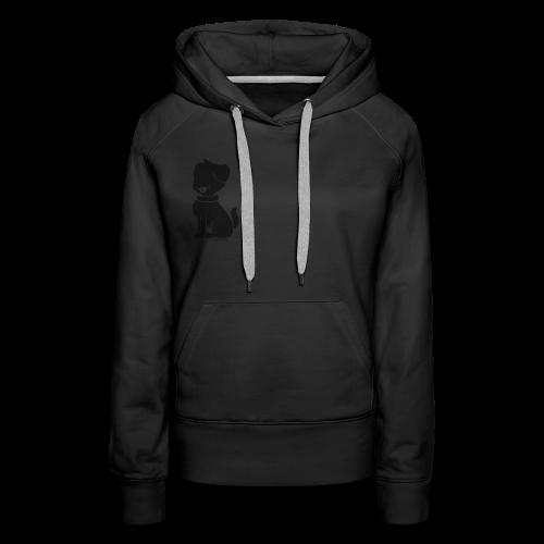 Dog silhouette womens hoodie - Women's Premium Hoodie