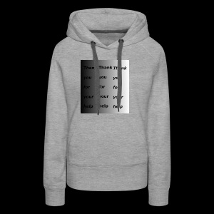 the female thank you shirt - Women's Premium Hoodie