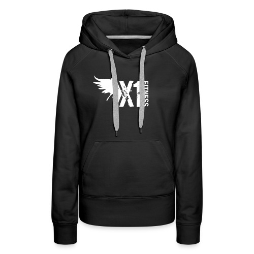 Women's X1 Fitness Sweatshirt, Black - Women's Premium Hoodie
