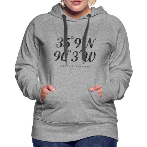 Memphis, Tennessee Coordinates Hoodie (Women/Gray) - Women's Premium Hoodie