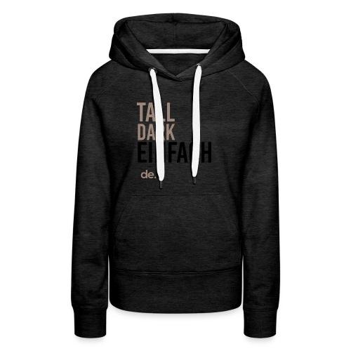 Women's Tall Dark Einfach Black Hoodie - Women's Premium Hoodie