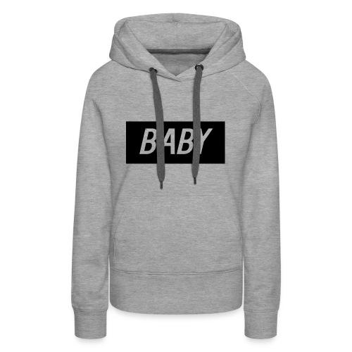 Official BabyDonut Women's hoodie (Grey) - Women's Premium Hoodie
