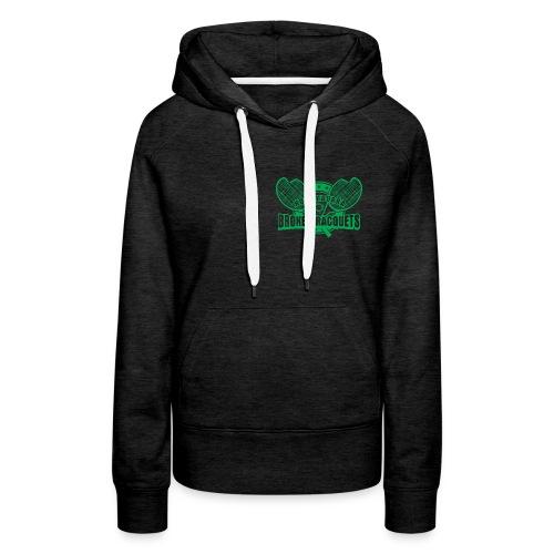 Women's hoody breast logo green - Women's Premium Hoodie