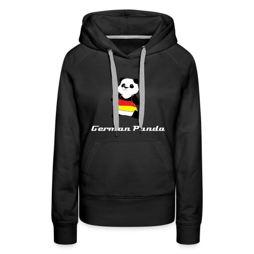 German Panda Let's Play T-Shirt-Black - Women's Premium Hoodie