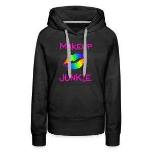 Makeup Junkie Women's Hoodie Black - Women's Premium Hoodie