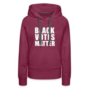 Black Votes Matter - Women's Purple Hoodie   Front Design Only - Women's Premium Hoodie