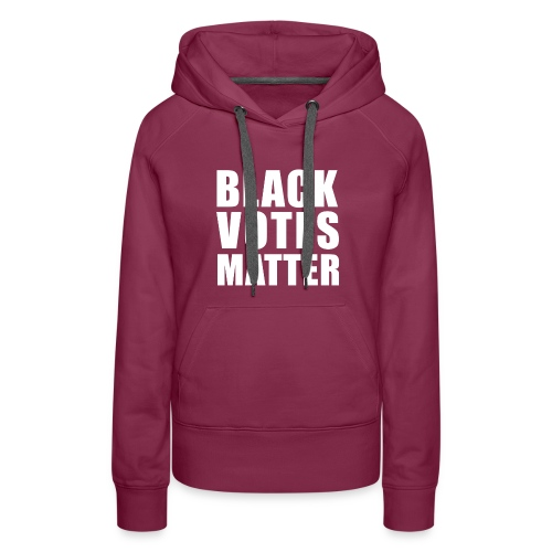 Black Votes Matter - Women's Purple Hoodie | Front Design Only - Women's Premium Hoodie