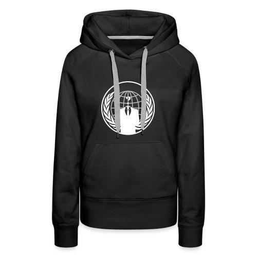 Anonymous Logo White Hoodie - Women's Premium Hoodie