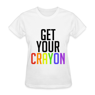 Get Your Crayon Rainbow (Black) Women's T-Shirts