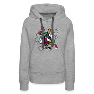 Rubik's Cube Illustration - Women's Premium Hoodie