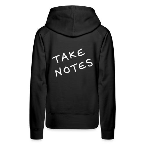 Take Notes hoodie | black - Women's Premium Hoodie