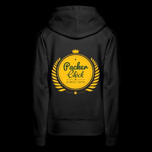 Black Retro Packer Chic Premium Sweatshirt - Women's Premium Hoodie
