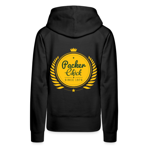Black Retro Packer Chic Premium Sweatshirt - Women's Premium Hoodie