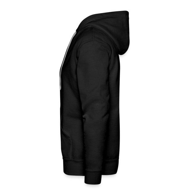 Black Inverted Logo Mens Hoodie