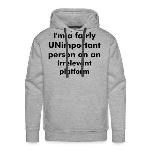 Unimportant men's sweatshirt Grey - Men's Premium Hoodie