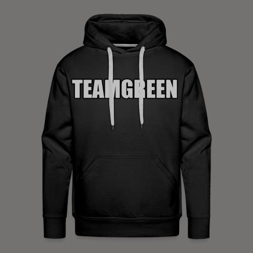 Greenish Hoodie TeamGreen Silver (Mens) - Men's Premium Hoodie