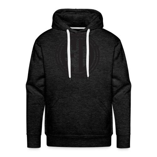 FD Black Circle Charcoal Hoodie - Men's Premium Hoodie