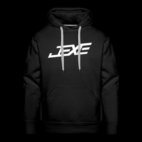(White On Black) - JeXe Clan [Hoodie] - Men's Premium Hoodie