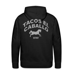 Silver Glitz Mustang TACO T-Shirt by TIMØ for Tacos El Caballo Taco Truck - Men's Premium Hoodie