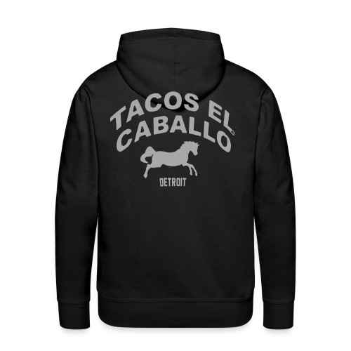 Silver Glitz Mustang TACO T-Shirt by TIMØ for Tacos El Caballo Taco Truck - Men's Premium Hoodie