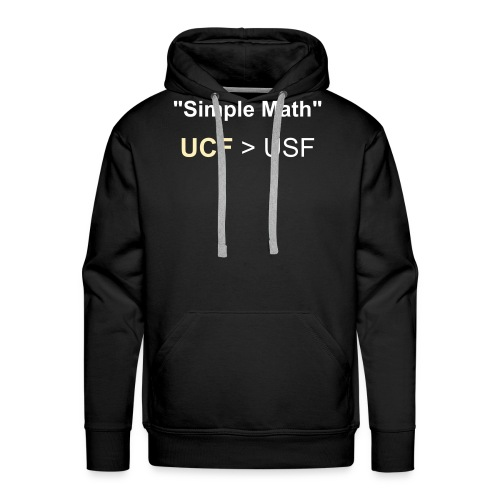 "New Slim Fit ""Simple Math"" Rivalry Hoodie! - Men's Premium Hoodie"