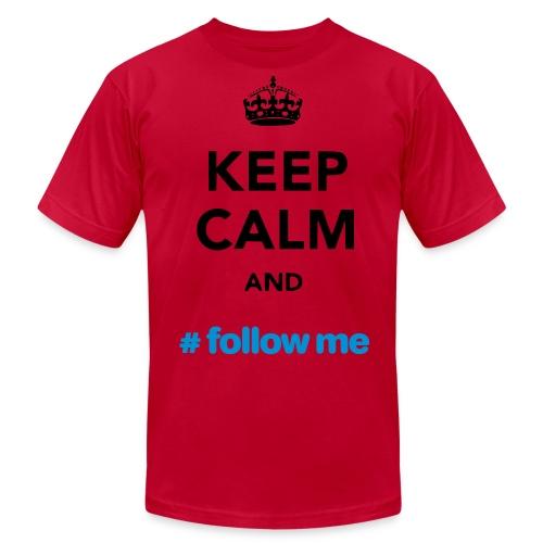 Keep Calm and Follow me RED - Men's Fine Jersey T-Shirt
