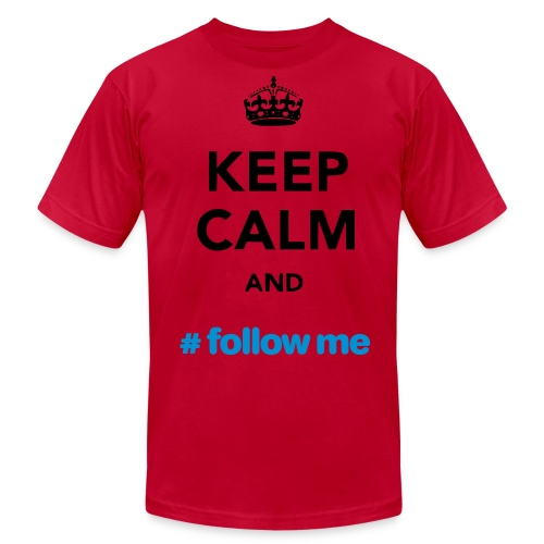 Keep Calm and Follow me RED - Men's Fine Jersey T-Shirt