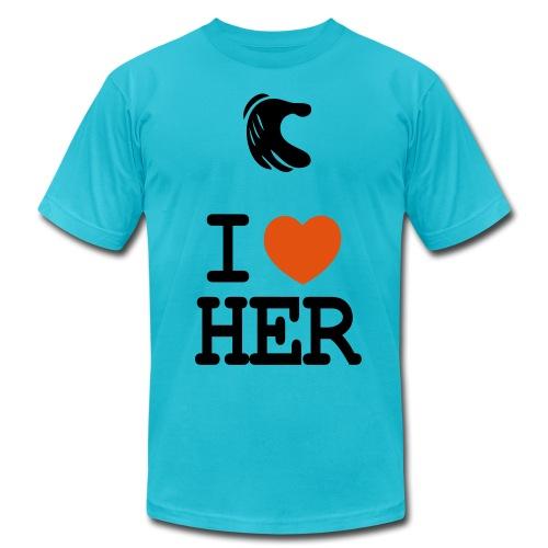 My First GirlFriend Blue - Men's Fine Jersey T-Shirt