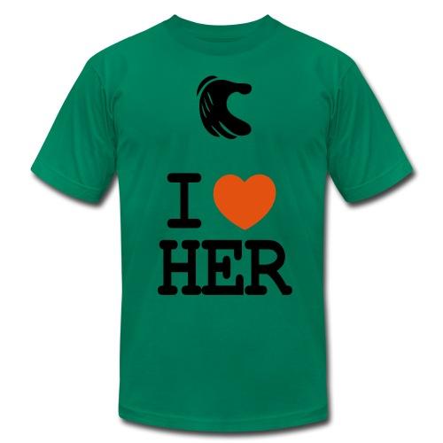 My First GirlFriend Green - Men's Fine Jersey T-Shirt
