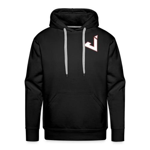 Jadsey Black Hoodie White Red Logo - Men's Premium Hoodie
