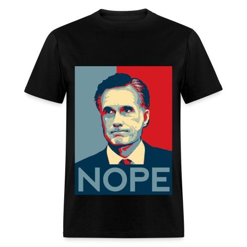 Nope  To Romney! - Men's T-Shirt