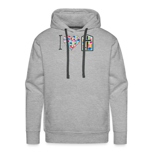 Men's Hoodie I Love FPGH Design - Men's Premium Hoodie