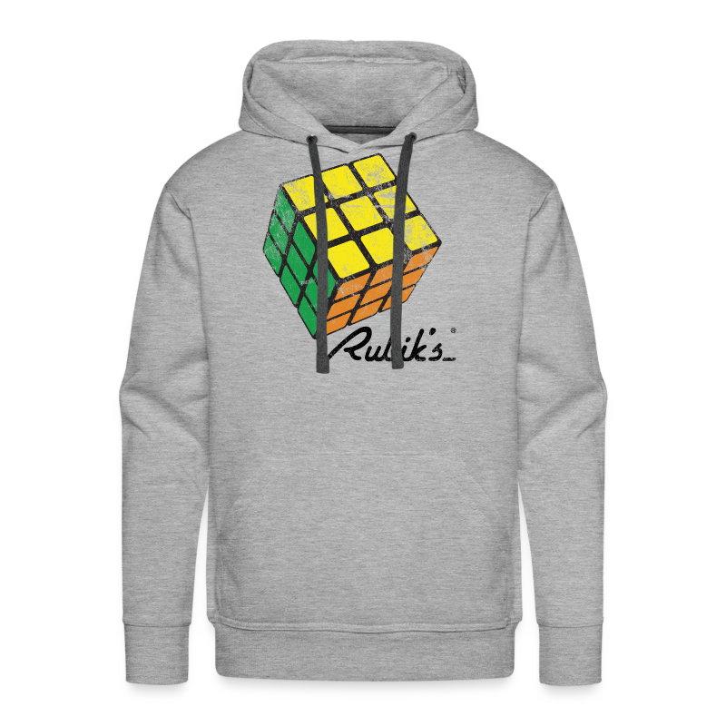 Rubik's Cube Solved Colourful Vintage - Men's Premium Hoodie