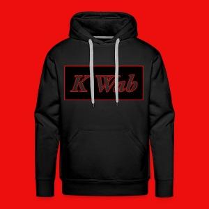 Mens hoodie KWaB90 Red Stroke - Men's Premium Hoodie