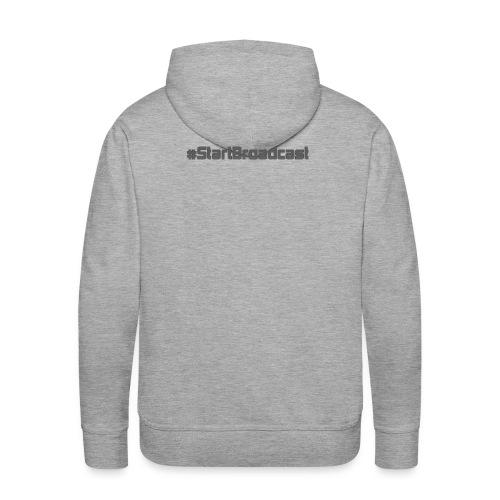 I heart Scoping #StartBroadcast Men's Sweatshirt - Men's Premium Hoodie