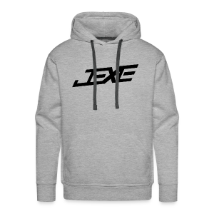 (Black On Heather Grey) - JeXe Clan [Hoodie] - Men's Premium Hoodie