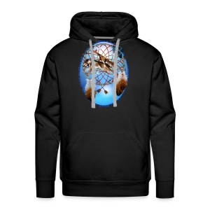 Pipe, Wolf, Arrows - Men's Premium Hoodie