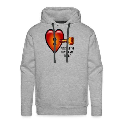 Pizza Is The Key To My Heart Men's Hoodie - Men's Premium Hoodie