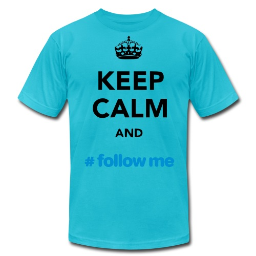 Keep Calm and Follow me RED Yellow - Men's Fine Jersey T-Shirt
