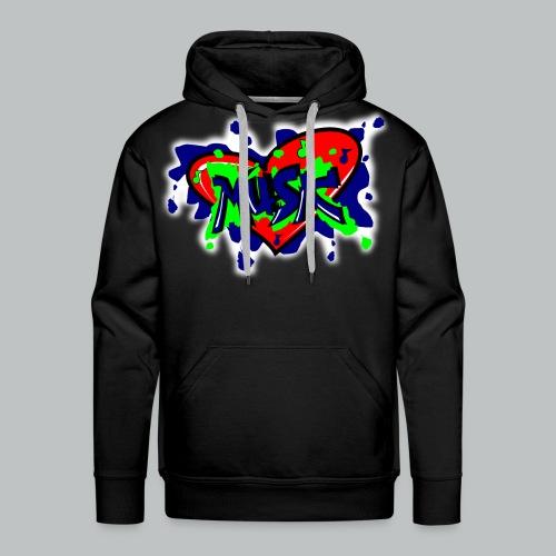 Graffiti Music - Men's - Men's Premium Hoodie
