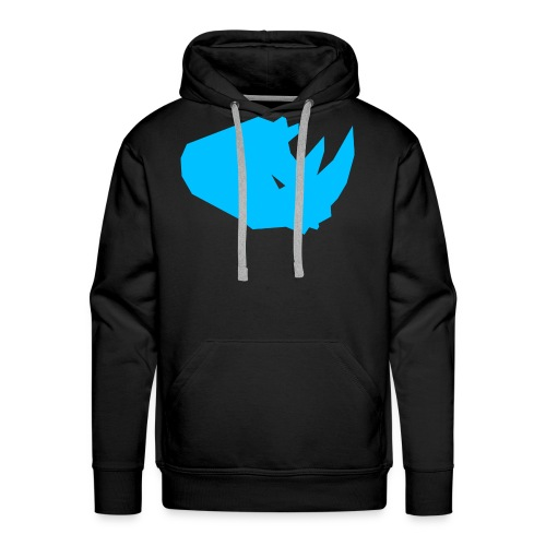 RiNO Hoodie LightBlue Logo - Men's Premium Hoodie