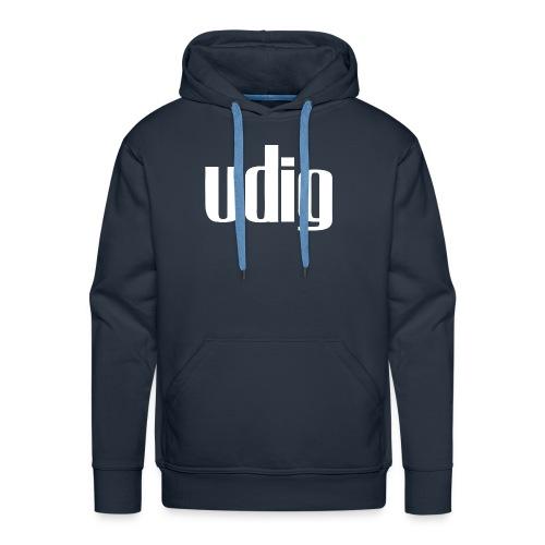 Udig Men's Navy Hoodie - Men's Premium Hoodie