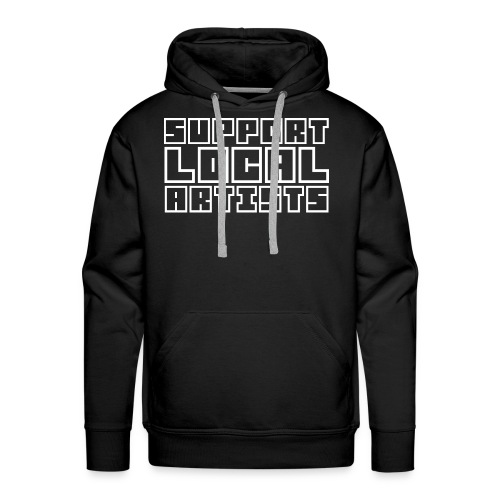 [MENS] Support Local Artists Graphic Premium Hoodie [Black/White] - Men's Premium Hoodie