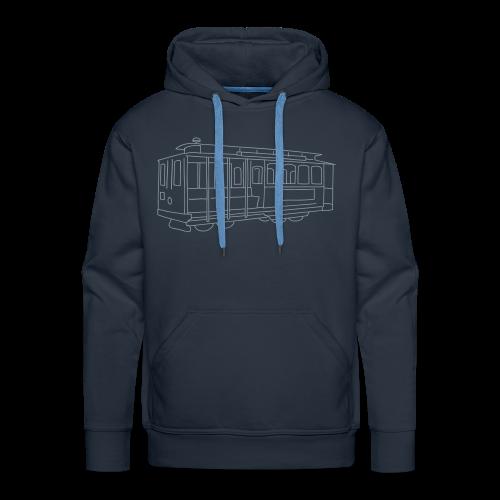 San Francisco Cable Car (silver) - Men's Premium Hoodie