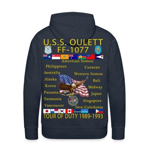 USS OULETT FF-1077 CUSTOM HOODIE - Men's Premium Hoodie