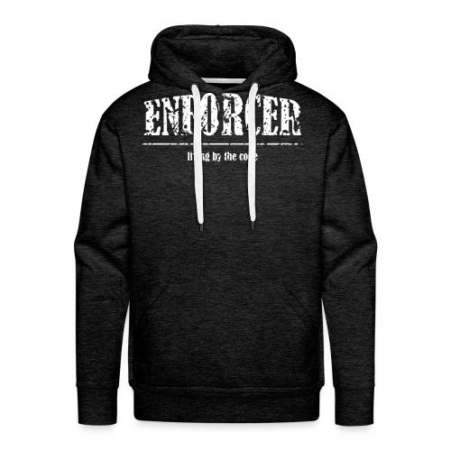 Enforcer: Living by the Code-Men's Hoodie - Men's Premium Hoodie
