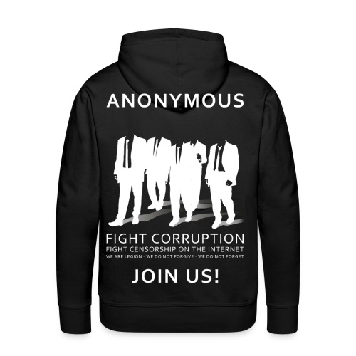 Anonymous 3 - White - Men's Premium Hoodie