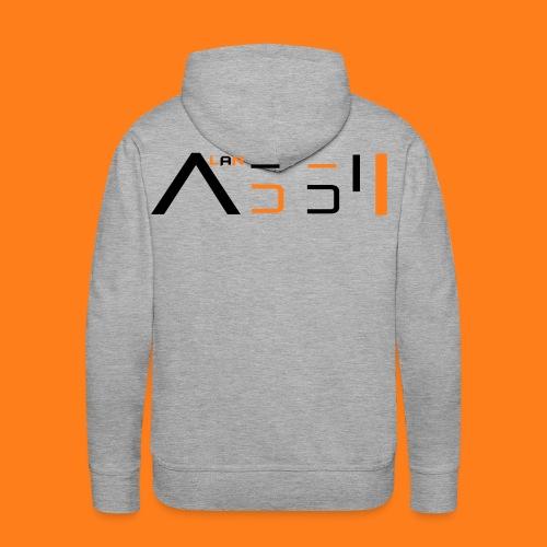 adult  hoodie with black text - Men's Premium Hoodie
